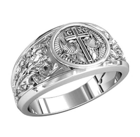 Серебряное охранное кольцо - малая икона, носимая на руке и напоминающая о Боге