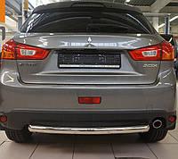 Защита заднего бампера на Mitsubishi ASX (с 2010--) Can Otomotiv d60 mm