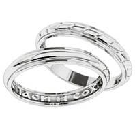 """(Пара) Серебряные обручальные кольца """"Спаси и сохрани"""""""