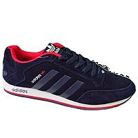 Кроссовки Adidas синие Blue (42-45) (реплика)
