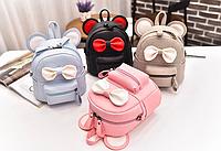 Рюкзак мини сумка женский из кожзама городской Miki 2 с ушками