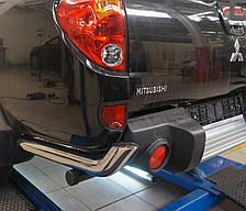 Защита заднего бампера на Mitsubishi L200 (2006-2015) Can Otomotiv d76 mm