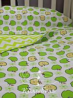 """Комплект сменного постельного в детскую кроватку, польский хлопок """"Симиреночка"""""""