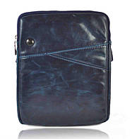 Сумка для планшета 10'' кожзам синяя