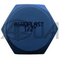 Заглушка шланга Ø 1/2 дюйма Agroplast (Агропласт)