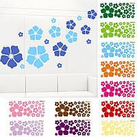 """Виниловая наклейка на стену """"Цветы"""" разные цвета, фото 1"""