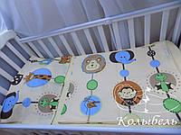 """Комплект сменного постельного в детскую кроватку, польский хлопок """"В гостях у животных"""""""