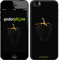 "Чехол на iPhone SE Черная клубника ""3585c-214-2911"""