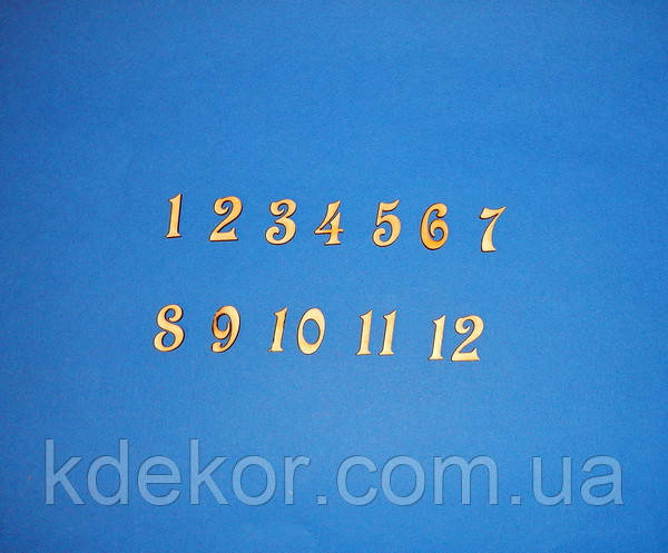 Цифри арабські (набір) №1 заготівля для декору