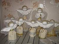 """Кукла ручной работы """"Рождественский Ангел"""" высокий 39-42 см"""
