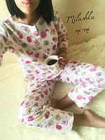 Теплая женская пижама с маской для сна