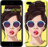 """Чехол на iPhone 7 Plus Девушка с чупа-чупсом """"3979c-337-2911"""""""