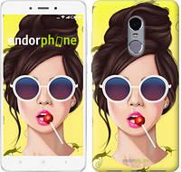 """Чехол на Xiaomi Redmi Note 4 Девушка с чупа-чупсом """"3979c-352-2911"""""""