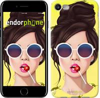 """Чехол на iPhone 7 Девушка с чупа-чупсом """"3979c-336-2911"""""""