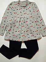 Комплект туника лосины для маленькой модницы