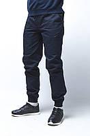 Мужские карго штаны Apache темно-синие, зауженные ( внизу манжет на резинке)