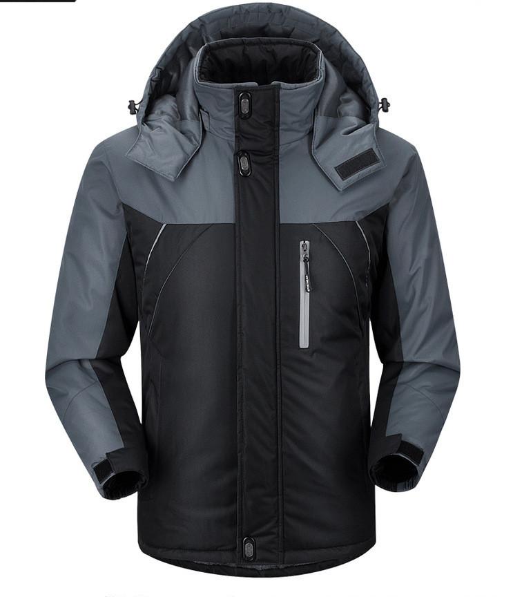 Куртка зимняя мужская черная, длинный пуховик   СС-7879-10
