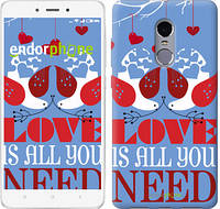 "Чехол на Xiaomi Redmi Note 4 Love is all you need ""3462c-352-2911"""