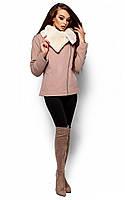 Коротке бежеве кашемірове пальто Amanda