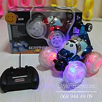 Игрушечная музыкальная трюковая машина на радиоуправлении ,17-16-15см,муз,свет,в кор-ке