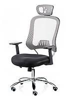 Кресло офисное Cancer компьютерное, черно-серое