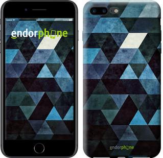 """Чехол на iPhone 7 Plus Треугольники """"2859c-337-2911"""""""