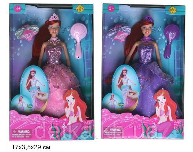 Лялька DEFA 29см 8188 русалонька з аксес.