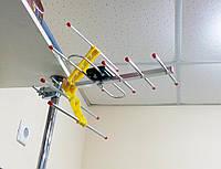 Наружная антенна с усилителем для цифрового ТВ Т2 ES-003
