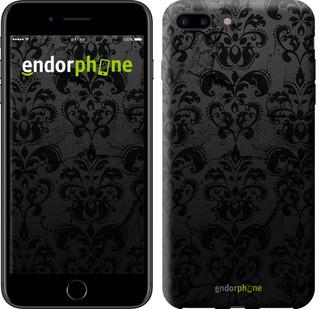 """Чехол на iPhone 7 Plus узор черный """"1612c-337-2911"""""""