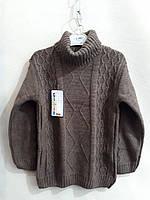 Вязаный свитер с высоким воротом  для мальчиков .Свитер 5-9 лет. Турция .Оптом