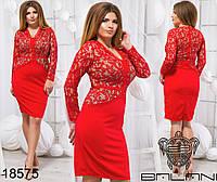 Вечернее гипюровое платье большого размера недорого в интернет-магазине Украина ( р. 48-54 )