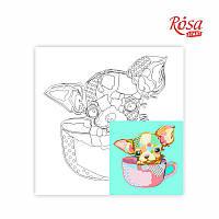Холст на картоне с контуром Pop Art Puppy 30х30 Rosa Start 020
