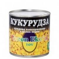 """Кукурудза цукрова 340г """"Green Eko'ol"""" ж/б (1/12)"""
