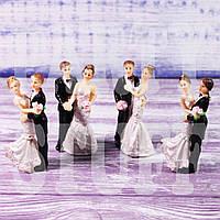 Статуэтка свадебная, 8 см (4 шт)