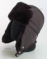 Ушанка для мужчин черного цвета