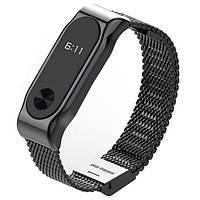 Ремінь для браслету Xiaomi Металлический ремешок для Mi Band 2 Black