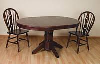 Обеденный стол раздвижной, 4260-2, темная вишня. Раскладные столы для кухни, стол на кухню, столы и стулья