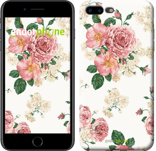 "Чехол на iPhone 7 Plus цветочные обои v1 ""2293c-337-2911"""