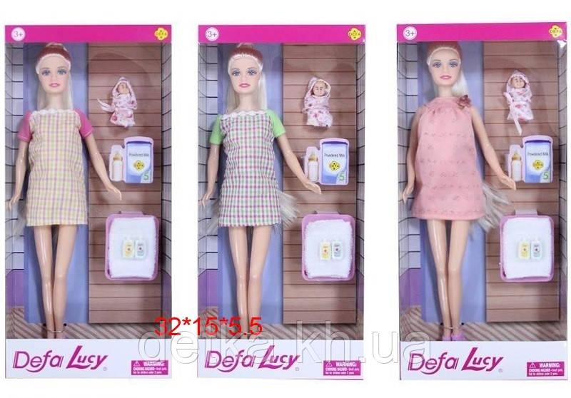 Лялька DEFA 29см 8357 беремо.з дитиною,з аксес.
