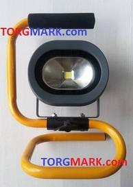 Много диодный светильник 10 Вт., переносной с аккумулятором. Переносной светодиодный прожектор 10 Вт.