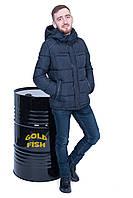 Зимняя мужская куртка Black - Wolf синяя