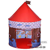Палатка домик детский100-100-130см,1вход-накидка с завязки липучки,2окна-сетк,микс вид,сум,44-44-4см