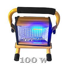 Много диодный светильник 100 Вт., переносной с аккумулятором. Переносной светодиодный прожектор 100 Вт.,, фото 3