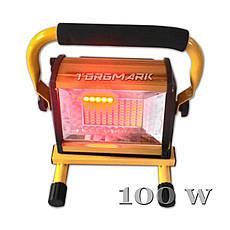 Много диодный светильник 100 Вт., переносной с аккумулятором. Переносной светодиодный прожектор 100 Вт.,, фото 2