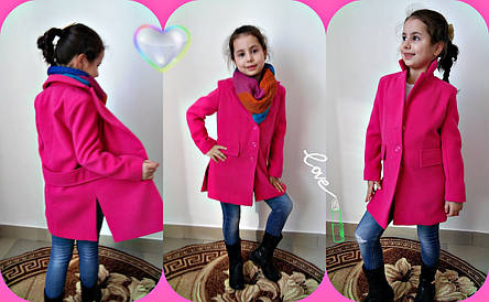 Детское пальто кашемировое весна-осень рост 122 - 140 см, фото 2