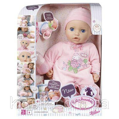 Куклапупс Бэби Аннабельнастоящая Малышкамногофункциональная-интерактивнаяZapf Creation Baby Annabell, 43 с, фото 1