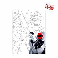 Холст на картоне с контуром Pop Art Passion 30х40 Rosa Start 180