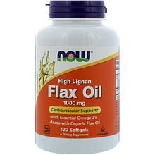 High Lignan Flax Oil NOW Foods 120 Softgels