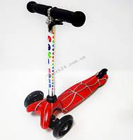 Детский 3 х колесный Самокат Scooter Maxi Baby Спайдермен (руль от 50-71 см, от 2 лет, до 35 кг)