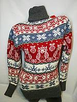 Теплый свитер женский шерстяной с горлом.Производство Турция.